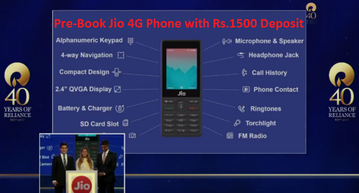 Buy JioPhone4g Online – Cheapest 4G Phone from Reliance