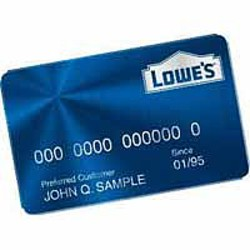 Lowes credit card pre approval