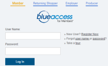 blue access for members login provider