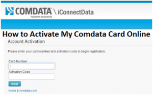 Activate My Comdata Card Online