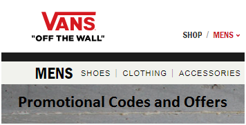Subscribe to Vans Shoes Offers and Promotional Code Alerts