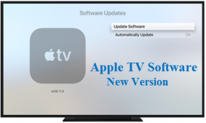 apple tv software update new version