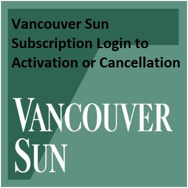 Vancouver Sun Newspaper Subscription Login