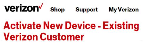 Verizon New Device Activation Process