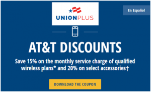 AT&T Union Plus Discount and Benefits