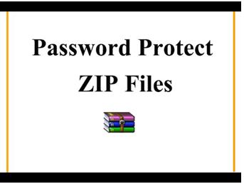 Create Password Protected Zip File Windows