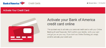 Activate Your Bank of America Credit Card