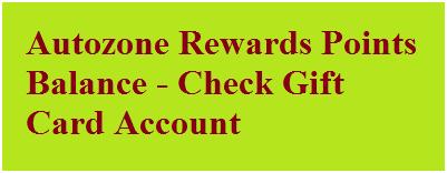 Autozone Rewards Points Balance