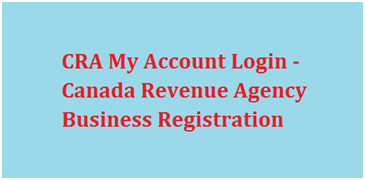 CRA My Business Account Login