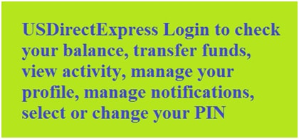 USDirectExpress Account Sign In