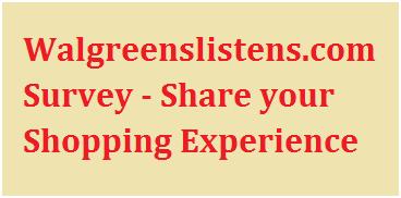 Walgreenslistens.com Survey