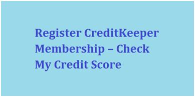 Register CreditKeeper Membership
