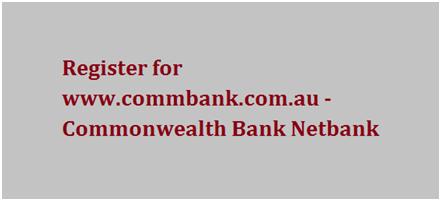 Register for Commonwealth Bank NetBank
