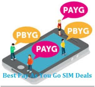 Best Pay As You Go SIM Deals