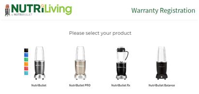 Nutribullet Warranty Registration