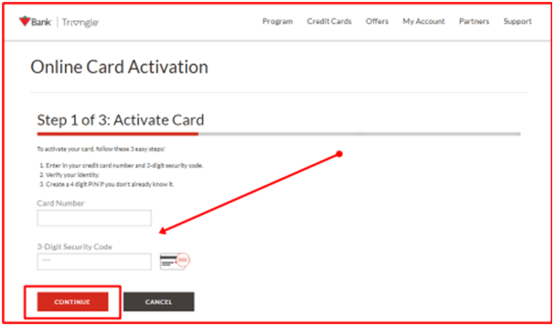 Activate Your Triangle Card
