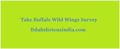 Take Buffalo Wild Wings Survey