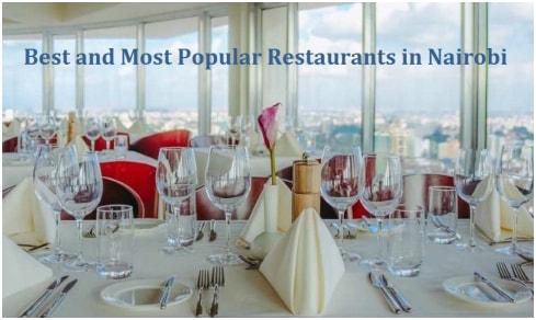 Best Restaurants in Nairobi Westlands